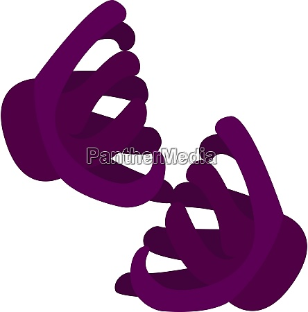 purple hairclip illustration vector on white