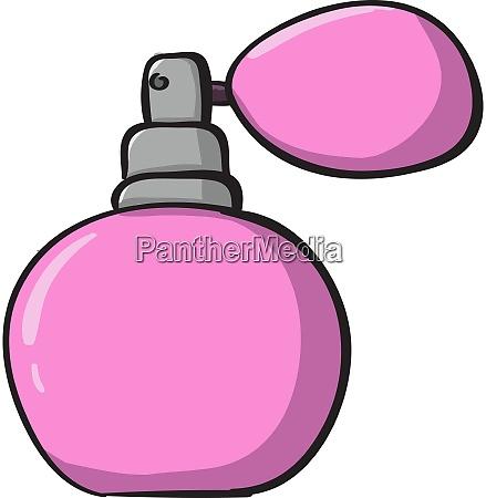 rosa parfuem illustration vektor auf weissem