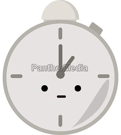 pocket clock illustration vector on white