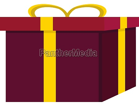 purple gift illustration vector on white