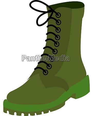 green boot illustration vector on white