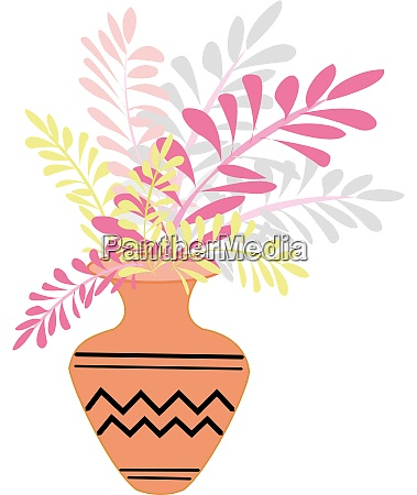 vase with flowers illustration vector on