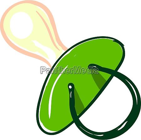 grüne, brustwarze, illustration, vektor, auf, weißem, hintergrund. - 27531474