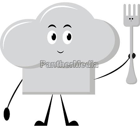 white cap illustration vector on white