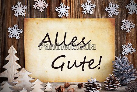 altes papier weihnachtsdekoration alles gute bedeutet