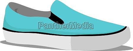 blauer sneaker illustration vektor auf weissem
