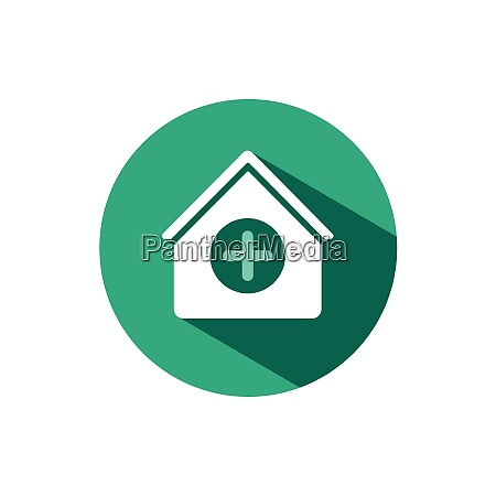house kit icon with shadow on