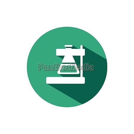labor konische kolben symbol mit schatten
