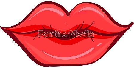rote lippen illustration vektor auf weissem
