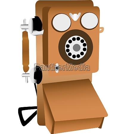 alte telefon illustration
