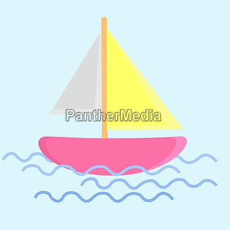 boat on water illustration vector on