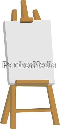 staffelei illustration vektor auf weissem hintergrund