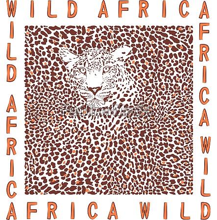 hintergrund leopard und text