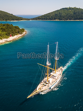 aerial, view, of, touristic, sailing, boat - 27539971