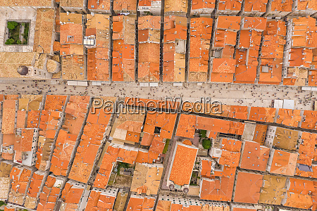 aerial view above of dubrovnik old
