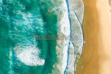 aerial view above of alexandria beach