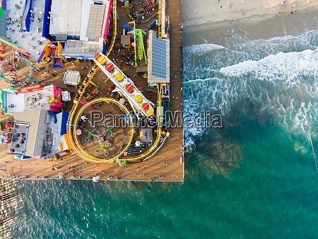 luftaufnahme von santa monica pier santa