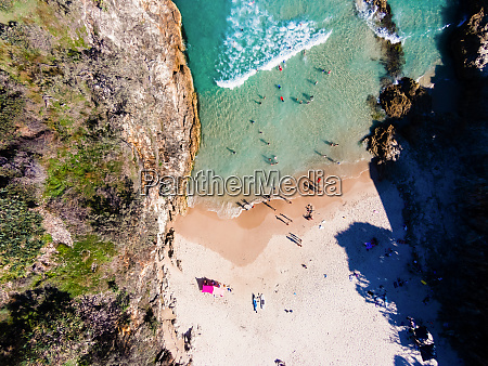 aerial view of main beach north