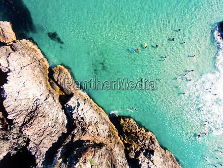 oben luft australien strand schoen vogelperspektive