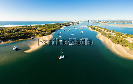 panoramic aerial view of the broadwater