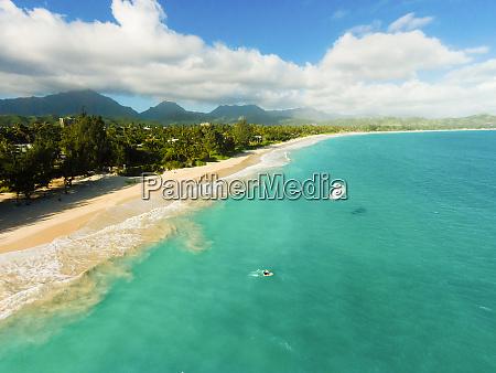 luftaufnahme von kailua beach oahu hawaii