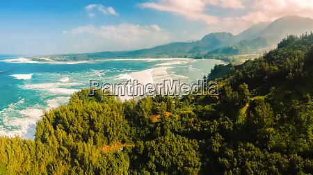 panoramablick auf die hanalei bay kauai