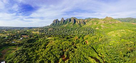 panoramablick auf die kalalea mountains anahola