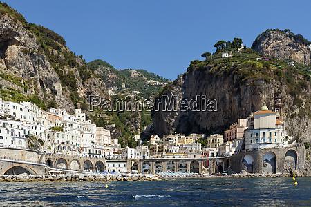 waterfront of amalfi amalfi salerno italy