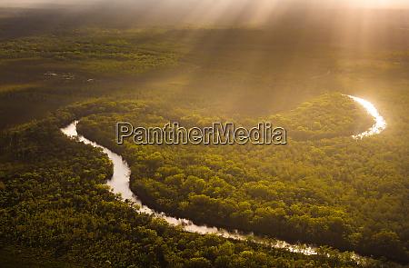 luftaufnahme des noosa river great sandy
