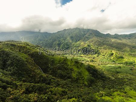 luftaufnahme des hanalei tals kauai hawaii