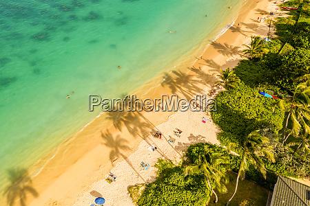 aerial view of lanikai beach kailua