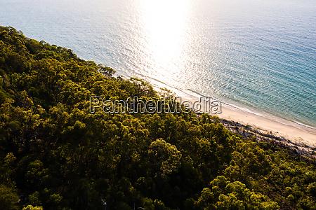 luftaufnahme von moreton island queensland australien