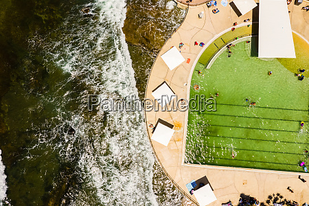 luftaufnahme des badebeckens in kings beach