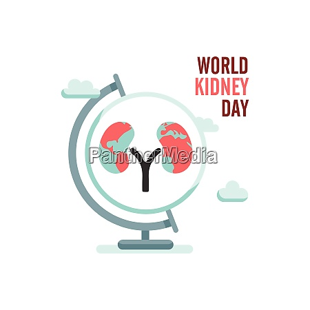 world kidney day with earth globe