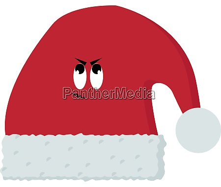 red hat illustration vector on white