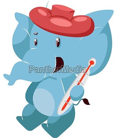 kranker elefant illustration vektor auf weissem