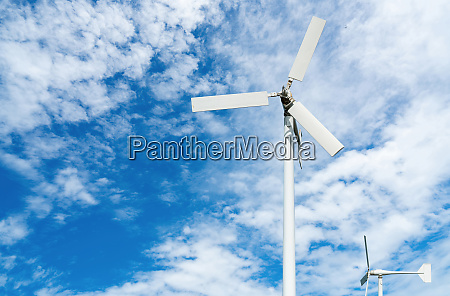 wind turbine at wind farm on