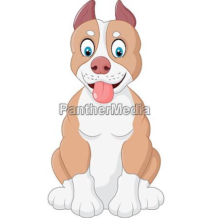 cartoon entzueckende hund