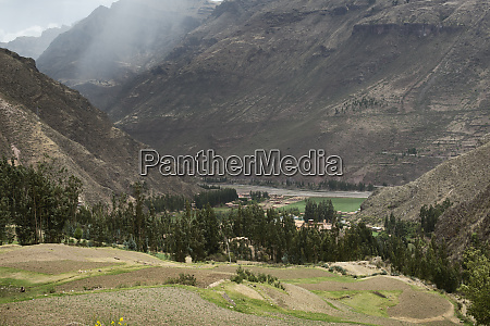 sacred valley surrounded by high mountains