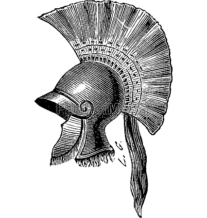 griechischer helm criniere de cheval vintage