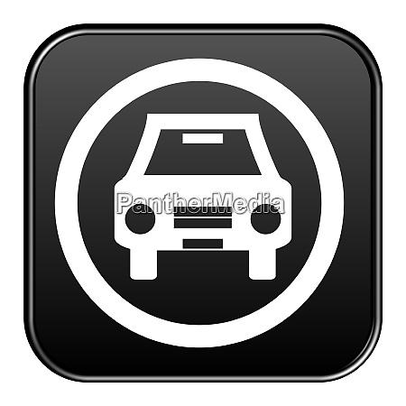 black button auto symbol