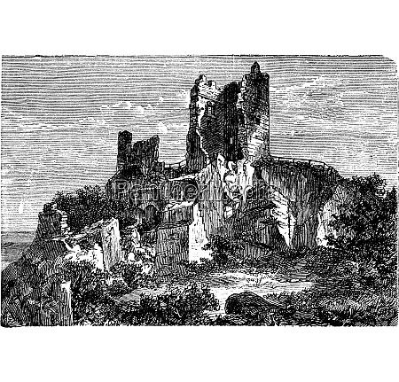 ruine des schlosses drachenfels in rheinland