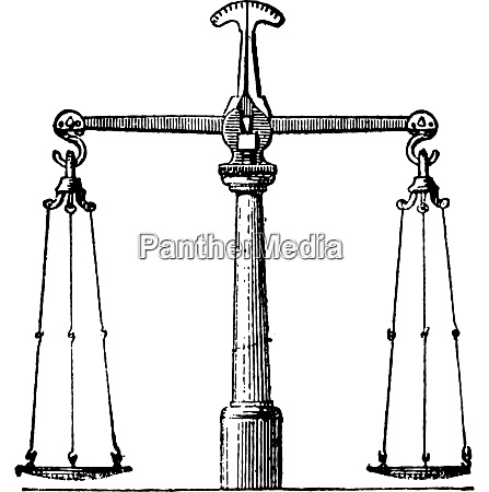 balance, , vintage, engraving. - 27620198