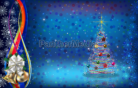 abstract dark blue background with christmas