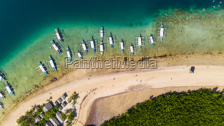 aerial view of traditional boat at