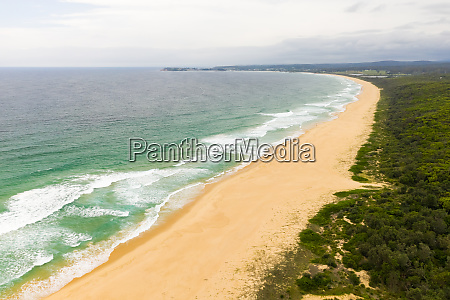 aerial view of beach at horseshoe