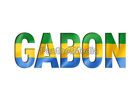 flagge gabon gabonese flagge text gabonese