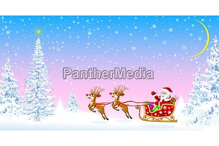 weihnachtsmann begruesst weihnachten