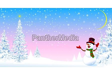 schneemann begruesst weihnachten 2