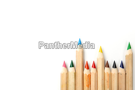 color pencils on white background copy